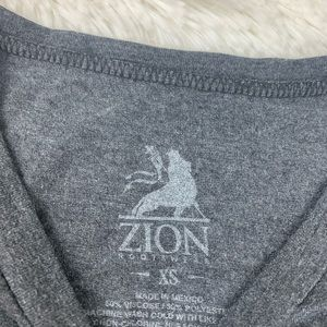 Zion Rootswear Tops - Johnny cash grey man in black graphic tee